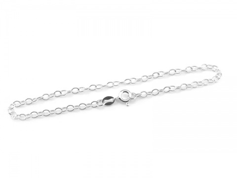 Sterling Silver Cable Chain Bracelet ~ 7.5''