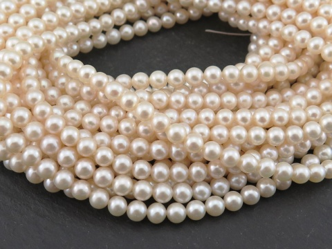 Freshwater Pearl Ivory Off-Round Beads 5-5.5mm ~ 16'' Strand