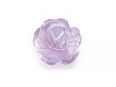 AAA Pink Amethyst Carved Flower 14mm ~ Half Drilled ~ SINGLE