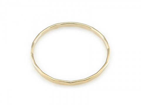 Gold Filled Hammered Stacking Ring ~ Size N