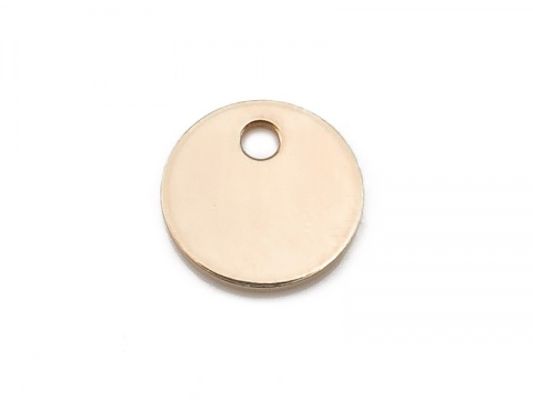 Gold Filled Round Tag/Disc 6mm