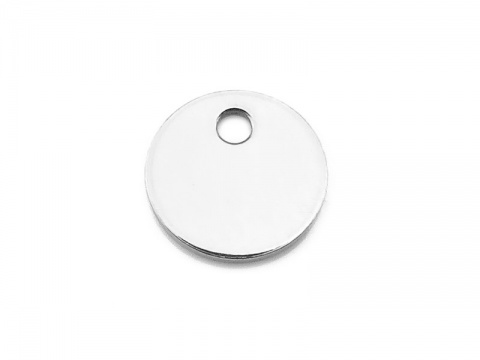 Sterling Silver Round Tag/Disc 6mm