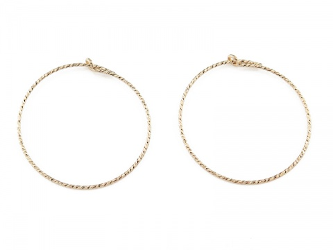 Gold Filled Sparkle Beading Hoop 25mm ~ PAIR