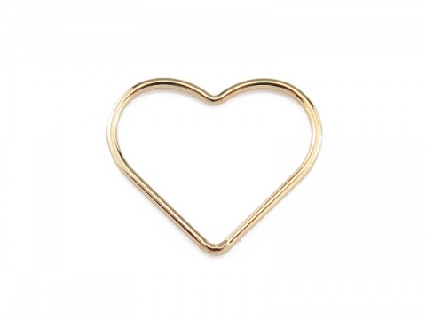 Gold Filled Heart Connector 17.5mm