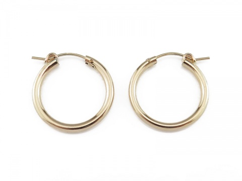 Gold Filled Hinged Earring Hoop 22mm  ~ PAIR