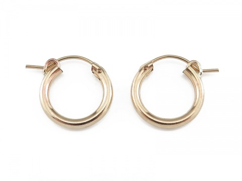 Gold Filled Hinged Earring Hoop 15mm  ~ PAIR
