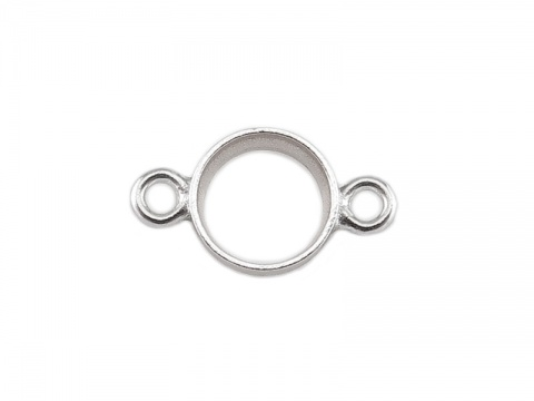 Sterling Silver Bezel Connector 4mm