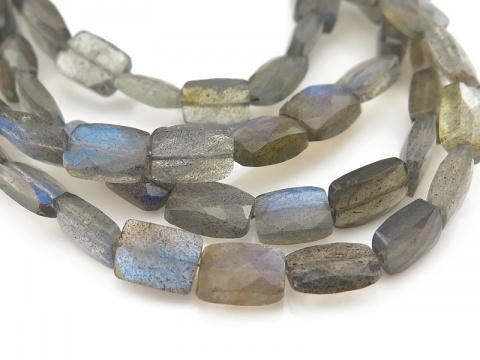 AA Labradorite Faceted Rectangle Beads 7.5-8mm ~ 8'' Strand