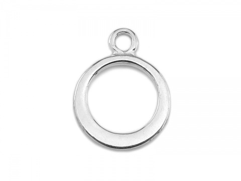 Sterling Silver Circle Charm 11.5mm