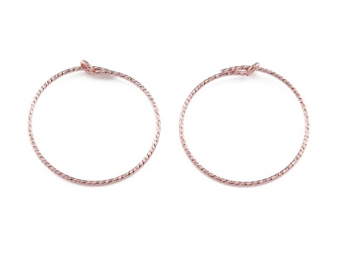 Rose Gold Filled Sparkle Beading Hoop 20mm ~ PAIR