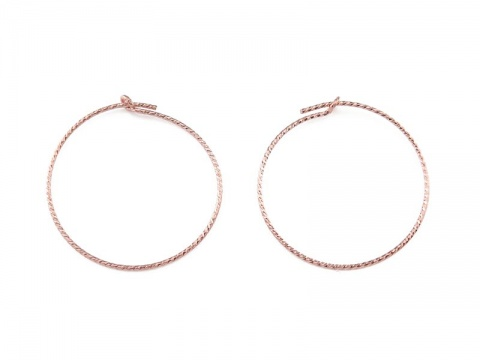Rose Gold Filled Sparkle Beading Hoop 25mm ~ PAIR