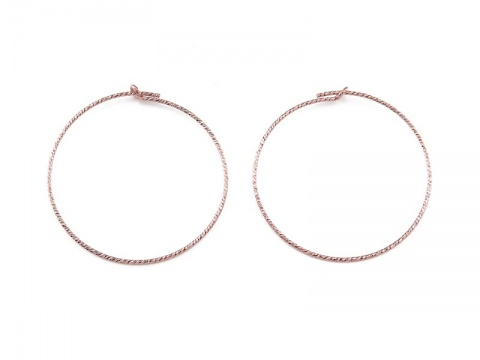 Rose Gold Filled Sparkle Beading Hoop 30mm ~ PAIR