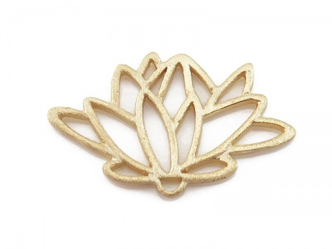 Gold Vermeil Lotus Connector 18mm