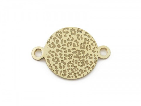 Gold Vermeil Leopard Print Connector 14mm