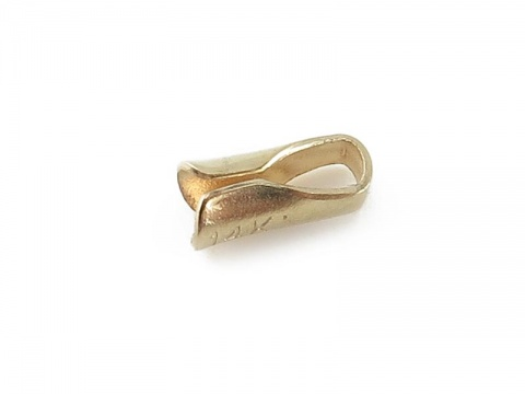 14K Gold Round End Cap 1.5mm