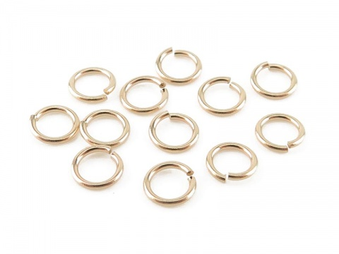 14K Gold Open Jump Ring 3.5mm ~ 24g