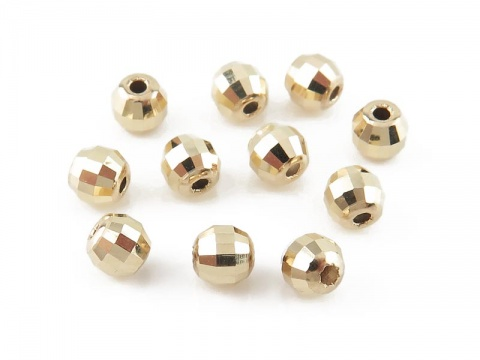 14K Gold Mirror Bead 3mm