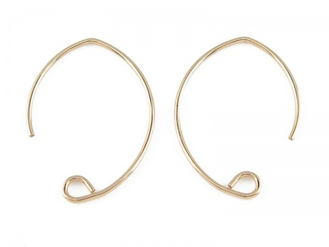Gold Filled V Shape Ear Wire ~ PAIR