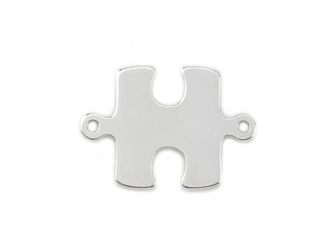 Sterling Silver Jigsaw Connector 16mm