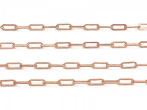 Rose Gold Filled Drawn Cable Chain 6.5mm ~ by the Foot