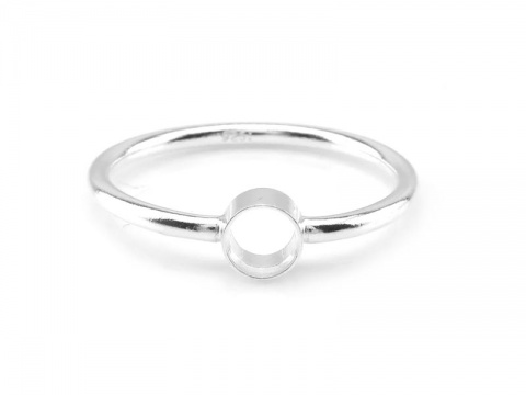 Sterling Silver Bezel Ring 4mm ~ Size P