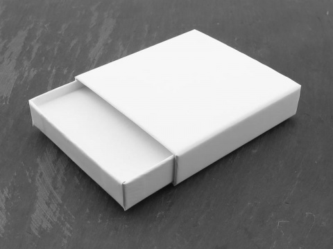 Pull Out Box with Foam Insert ~ White ~ 75mm x 75mm