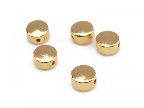 Gold Vermeil Coin Bead 6mm