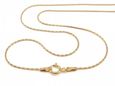 Gold Filled Beading Chain Necklace with Spring Clasp ~ 18''