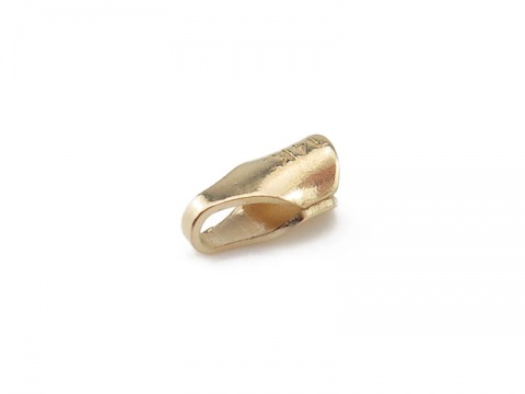 14K Gold Round End Cap 2mm