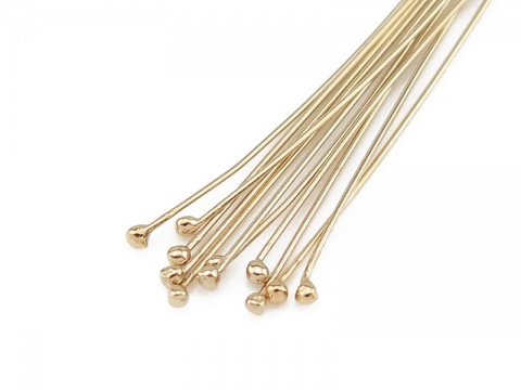 Gold Filled Ball Head Pin ~ 28 gauge ~ 1.5'' ~ Pack of 10