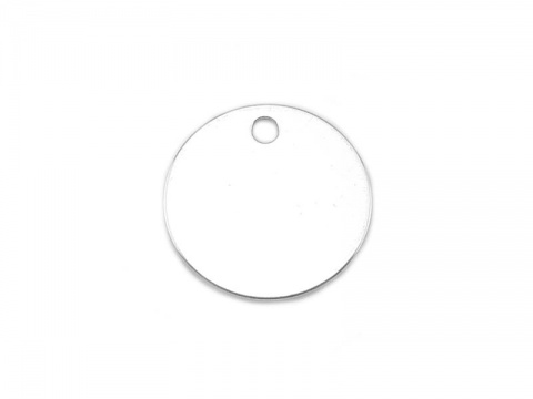 Sterling Silver Round Tag 10mm - Optional Engraving