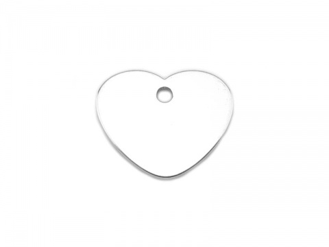 Sterling Silver Heart Tag 9mm (Thick) ~ Optional Engraving
