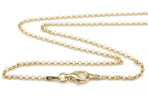 Gold Vermeil Belcher Chain Necklace with Clasp 17.75''