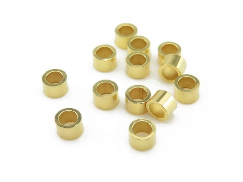 Gold Vermeil Crimp 3mm x 2mm ~ Pack of 10