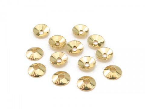 Gold Vermeil Plain Bead Cap 4mm
