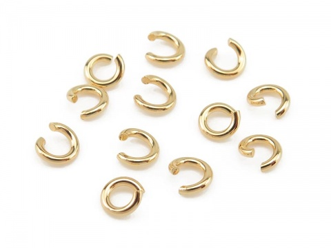 Gold Vermeil Open Jump Ring 4mm ~ 20ga ~ Pack of 10