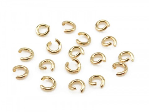 Gold Vermeil Open Jump Ring 3mm ~ Pack of 10