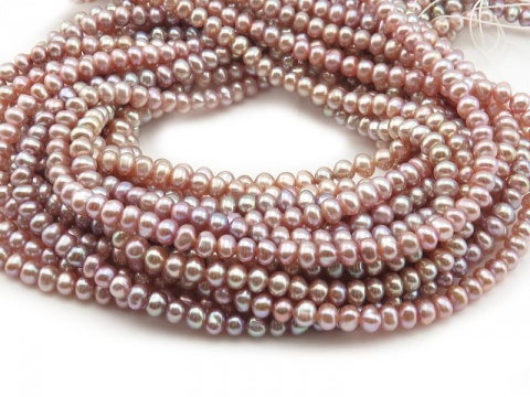 Freshwater Pearl Rose Potato Nugget Beads 4.5mm ~ 15.5'' Strand