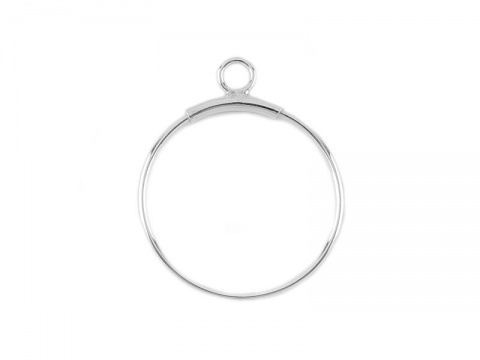 Sterling Silver Open Hoop Drop 30mm