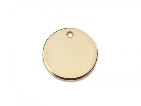 Gold Filled Round Tag (Thick) 10mm ~ Optional Engraving