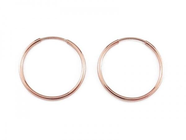 Rose Gold Vermeil Coil Earwire 20mm ~ PAIR
