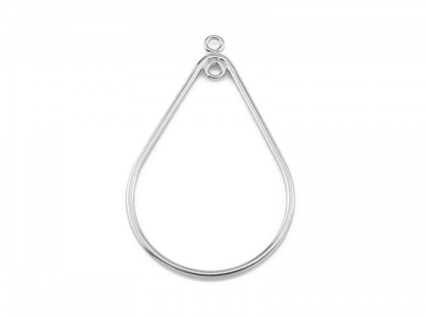 Sterling Silver 1 Loop Pear Drop 32mm