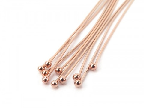 Rose Gold Filled Ball Head Pin ~ 26 gauge ~ 1'' ~ Pack of 10