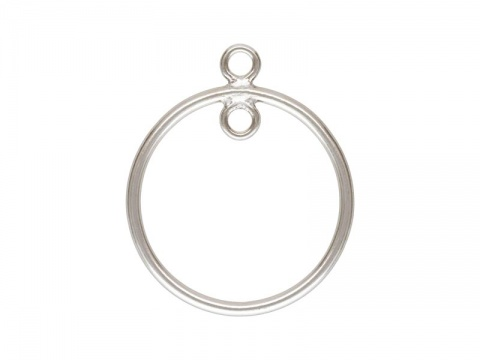 Sterling Silver 1 Loop Round Drop 15mm
