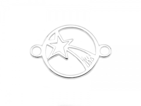 Sterling Silver Shooting Star Connector 14mm