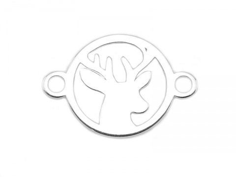 Sterling Silver Stag Connector 14mm
