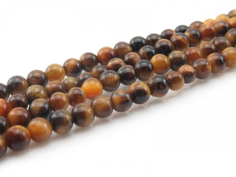 AAA Tiger's Eye Smooth Round Beads 3.5mm ~ 15.5'' Strand