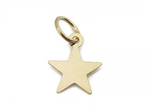 Gold Filled Star Charm w/Ring 10mm