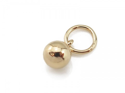 Gold Filled Ball Charm w/Ring 4mm