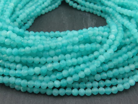 AAA Amazonite Micro-Faceted Round Beads 3mm ~ 12.5'' Strand